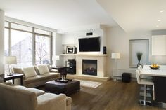 Entertainment Wall Units With Fireplace Design, Pictures, Remodel, Decor and Ideas - page 21
