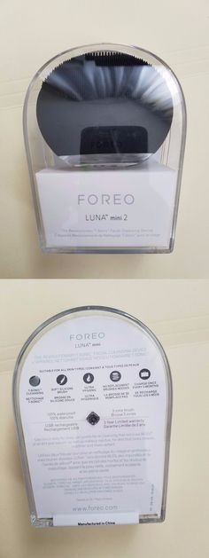 Home Skin Care Devices: Foreo Luna Mini 2 Cleansing Device Black New Sealed -> BUY IT NOW ONLY: $99.99 on eBay! Mini Me, Cleanse, Anti Aging, Skin Care, Personalized Items, Ebay, Black, Products, Black People