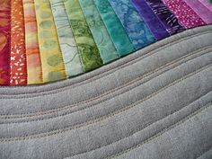Rainbow Mini Quilt- detail  by Spotted Stone Studio {Krista}, via Flickr
