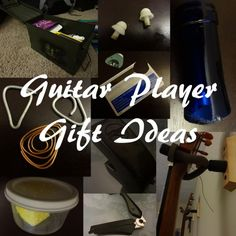 Gift ideas for guitar players. Great DIY ideas and some inexpensive things to buy that are unique. #gifts #Guitar