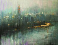"Saatchi Art Artist Chin h Shin; Painting, ""On the Way to New York"" #art"