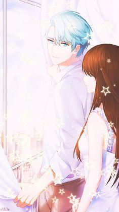 Mystic Messenger V, Luciel Choi, Couple Wallpaper, Tumblr, Amazing Drawings, Diabolik Lovers, Orange Is The New Black, Anime Couples, Bond