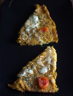 A gluten free pizza crust made of sweet potato with quinoa,rice flour,egg,cheese