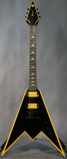 "ED Roman ""Vampire Tooth"" Guitar (or is it a flying W) --- https://www.pinterest.com/lardyfatboy/"