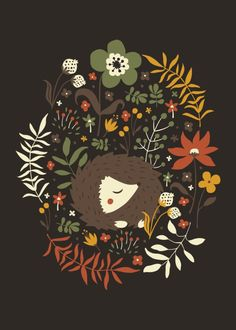 Cute Hedgehogs Art Print by Anna Deegan | Society6