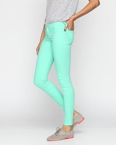 The Skinny pant in Jade $78 :: LOVE this color!!