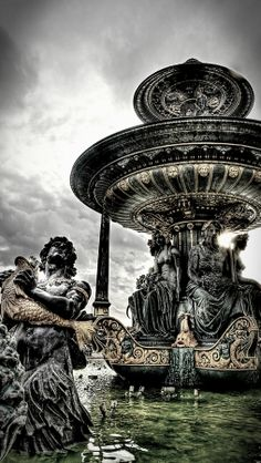 Concorde Fountain - Paris - France detail by Ed Younan on 500p
