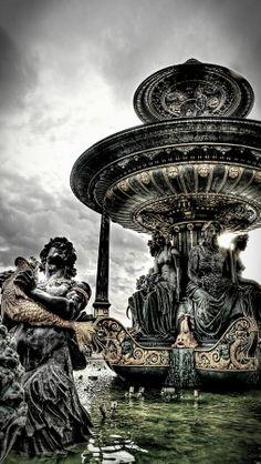 Concorde. Fountain detail, Paris