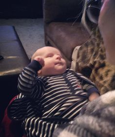In true Ryan fashion...little Axel Owen rocking out with a fist in the air. @georgeryan83 @aeryan37