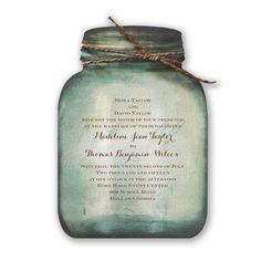 Country Jars Wedding Invitation - how fantastic!!