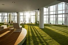 """Indoor summer space. set up one of the spaces with fake grass, picnic tables, hamocks. and have a """"picnic"""" event"""