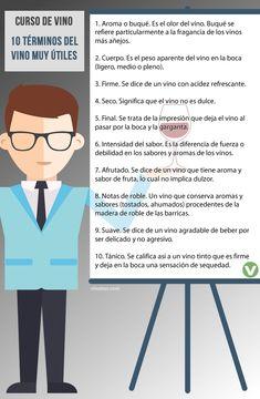 10 términos básicos para hablar de vinos.