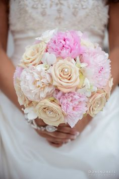 crystal accented bridal bouquet www.DominoArts.com