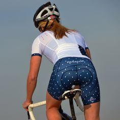 Love this, Women's Polka Diamond Bullet Bib Short....Panache Cycle Wear