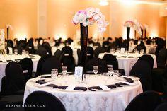 East indian wedding wedding reception tall centrepiece