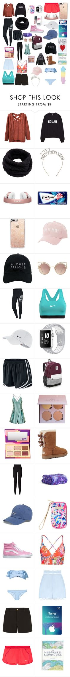 """""""🎄"""" by ale-needam on Polyvore featuring Helmut Lang, Casetify, Charlotte Russe, Nasaseasons, MANGO, NIKE, Victoria's Secret, Topshop, tarte and UGG"""