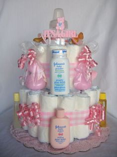 baby essentials diaper cake