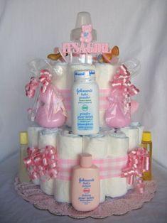 Practical diaper cake