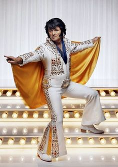 Bill Murray. Elvis Presley Costume.  Funny editorial photography. The King