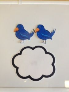 2 little birds sitting on a cloud, one was soft, one was loud.  etc