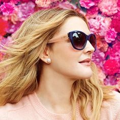 1016a8f6e6 This Is How Drew Barrymore Is Celebrating National Sunglasses Day Today.  Flower ...