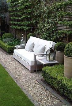 Nice path with Garden bench via Melissa Penfold