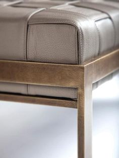 Love the woven leather detail and how it sits in a metal frame