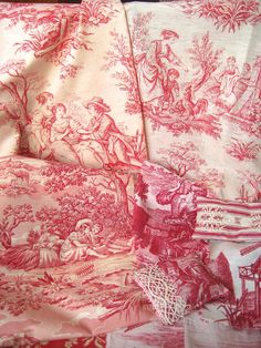 Some of my antique toile de Jouy collection