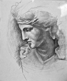 Greek Statue Head 2 by BlackFeatherz29 on DeviantArt
