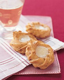 Ham and Gruyere Thumbprints - The dough has black forest ham in it. You can make and freeze these ahead of time. Bake straight from the freezer.