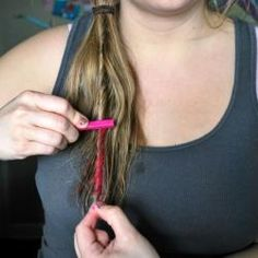 DIY TEMPORary Colored Hair