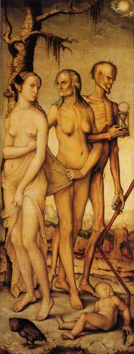 Hans Baldung (Grien) - Las tres edades y la muerte, 1543