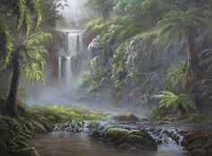 """Hidden Paradise"" by Kevin Hill  Check out my YouTube channel: KevinOilPainting   For more information about brushes, DVDs, events, and more go to: www.paintwithkevin.com"
