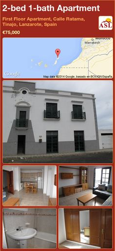 2-bed 1-bath Apartment in First Floor Apartment, Calle Ratama, Tinajo, Lanzarote, Spain ►€75,000 #PropertyForSaleInSpain