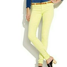 Sunny denim These yellow jeans are the perfect accent to make a drab outfit fab Forever 21 Pants Straight Leg