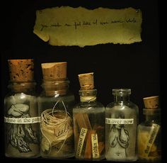 Wish bottles, write down your wishes on slips of parchment paper, add items that might reflect the wish including herbs, trinkets, gemstones and so on that seem to match the wish. Put on your alter on the new moon and keep it there till the full, then place in a special box in the back of a drawer, or bury under a special tree, and do your best to forget it, letting the wish go free to the god and goddess to fulfill or not according to your best outcome for your life. Blessed Be!