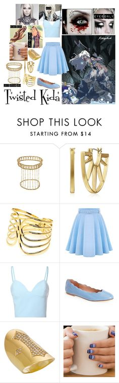 """Twisted Disney - Kida"" by blackest-raven ❤ liked on Polyvore featuring Disney, Trina Turk, New Directions, Glamorous and French Sole FS/NY"
