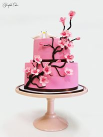 Cherry Blossom themed cake <3