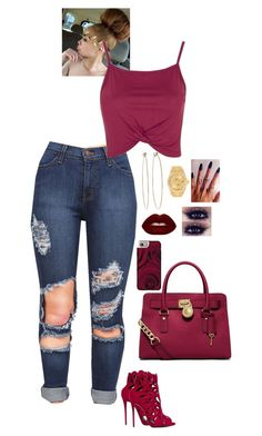 """""""6.2.16"""" by zeeloveszebras on Polyvore featuring Topshop, MICHAEL Michael Kors, Giuseppe Zanotti, Lime Crime, Rolex, Dean Harris and Casetify"""