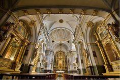 Interior Santuario de la virgen de la Vallivana, Morella, Maestrazgo. Castellón. Spain.