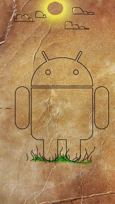 Android Robot Paper Clouds Wallpaper for Mobile 720x1280
