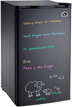 Igloo Erase Board Refrigerator with Neon Markers cu. Black - Beverage Refrigerator - Ideas of Beverage Refrigerator - Discounted Igloo Erase Board Refrigerator with Neon Markers cu. Beverage Refrigerator, Compact Refrigerator, Mini Fridge, Retro Fridge, Dorm Room Art, Cool Dorm Rooms, College Checklist, College Planning, Home Designer