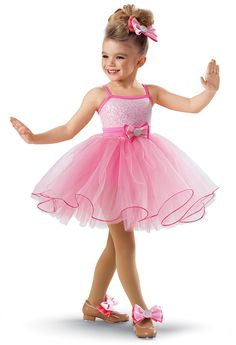 Sequin Curly Hem Tulle Dress -Weissman Costumes