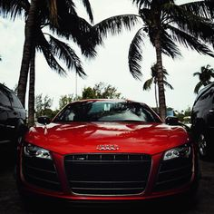 Awesome devil red Audi R8