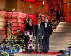 King Willem-Alexander and Queen Maxima of The Netherlands hosted a concert and a reception at the Petit Palais in Paris. March 2016