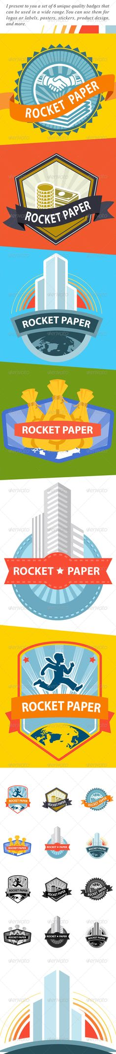 Web Elements & Badges for Rocket Paper #jpg #image #money #badges • Available here → https://graphicriver.net/item/web-elements-badges-for-rocket-paper/5993635?ref=pxcr