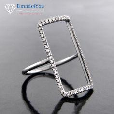 SPO1260, 0.30cttw, Rectangular Fashion Ladies Diamond Gold Ring - Dmnds4You