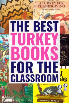 These are the best kids thanksgiving books to go with your turkey unit! They include a good mix of facts and funny and sweet stories & are teacher approved. Toddlers And Preschoolers, Parent Teacher Conference Forms, Parent Teacher Conferences, Third Grade Reading, Second Grade, Phonics Activities, Therapy Activities, Classroom Activities, Book Activities