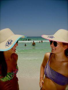 Monogram Beach Hats! I think Yes! @Leslie Horlacher Keating!