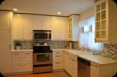 white ikea kitchen  creating domestic bliss: I love a good kitchen reno!